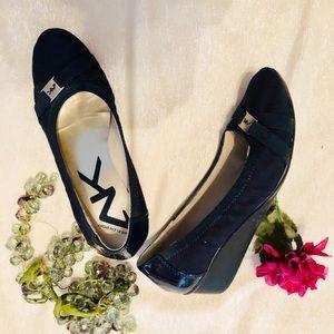 Anne Klein Sport Wedge Heel Black Dress, 8 1/2M